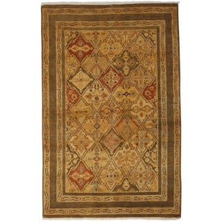 """New Ottoman Hand Knotted Area Rug - 4' x 6'2"""""""