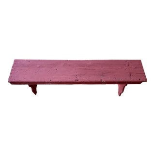 American Red Painted Barn Bench