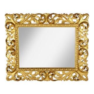 Baroque Italian Gilt Wood Mirror
