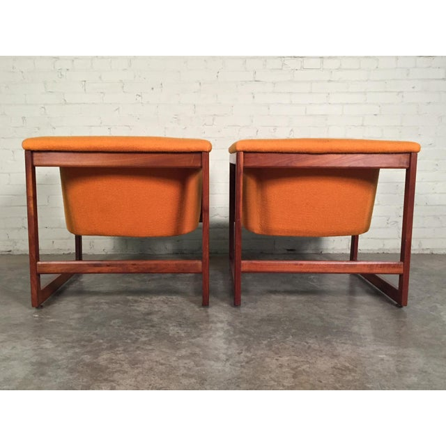 Milo Baughman Mid-Century Modern Floating Cube Chairs - A Pair - Image 7 of 10