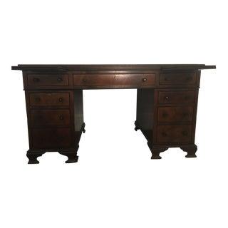 Antique Maple & Co. Flame Mahogany Desk