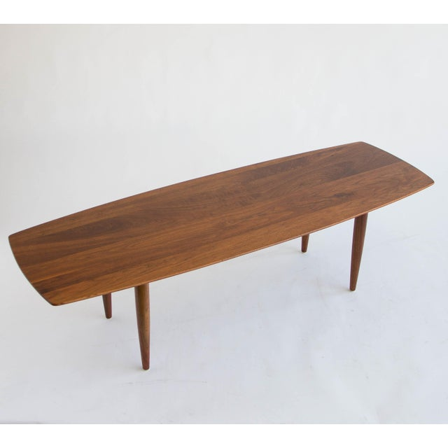 Image of American Made Solid Walnut Surfboard Coffee Table
