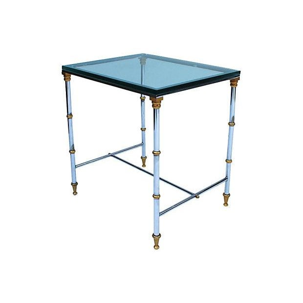 Image of Chrome & Brass Side Table