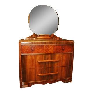 Art Deco Waterfall Dresser With Mirror
