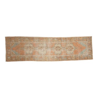 "Vintage Distressed Oushak Rug Runner - 2'8"" x 9'9"""