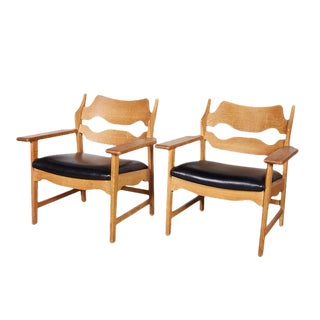 Danish Armchairs by Henning Kjaernulf in Oak