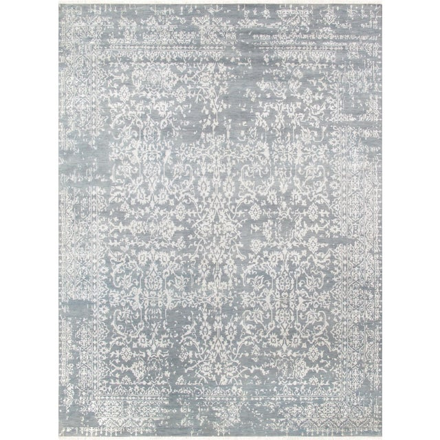 "Pasargad Transitiona Vsilk & Wool Rug- 9' x 12'4"" - Image 1 of 4"