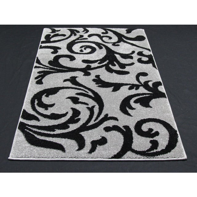 "Gray Vine Pattern Rug - 2'8"" X 5' - Image 3 of 3"