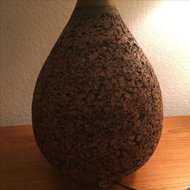 Vintage Miller's of California Cork Lamp - Image 7 of 11