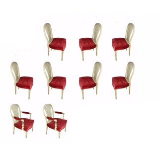 Pin Constructed Balloon Back Dining Chairs - S/9
