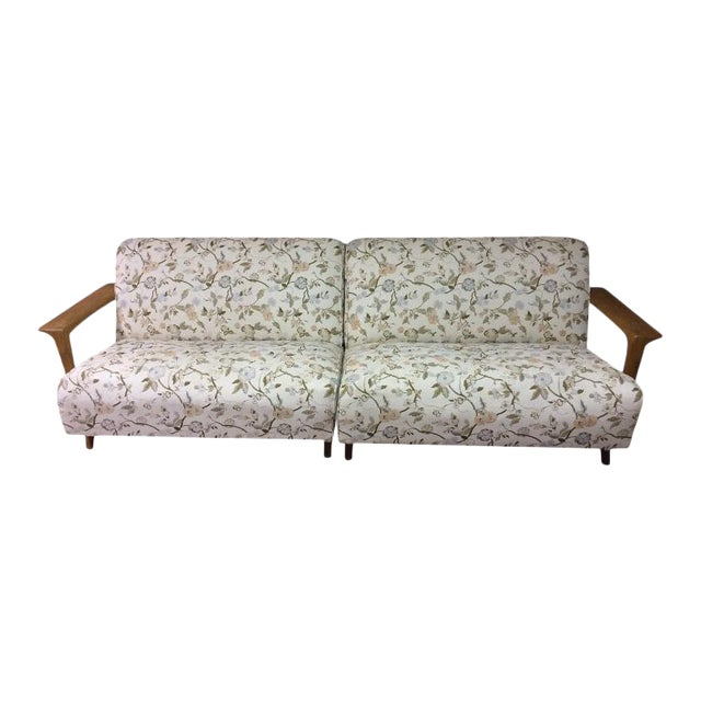 Mid-Century Divided Sectional Couch - Image 1 of 7