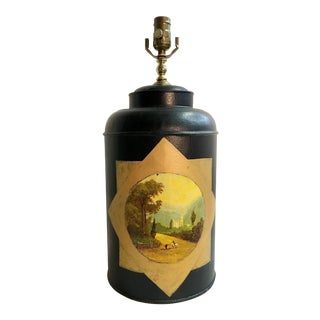 English Export Tea Caddy Lamp