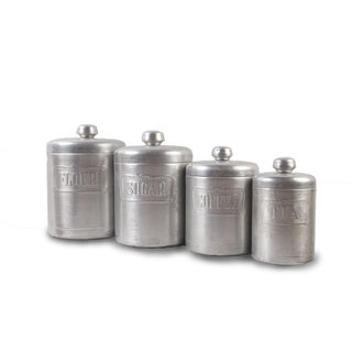 Tin Culinary Containers - Set of 4