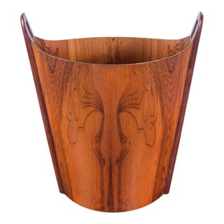 Rosewood Wastebasket for P.S. Heggen
