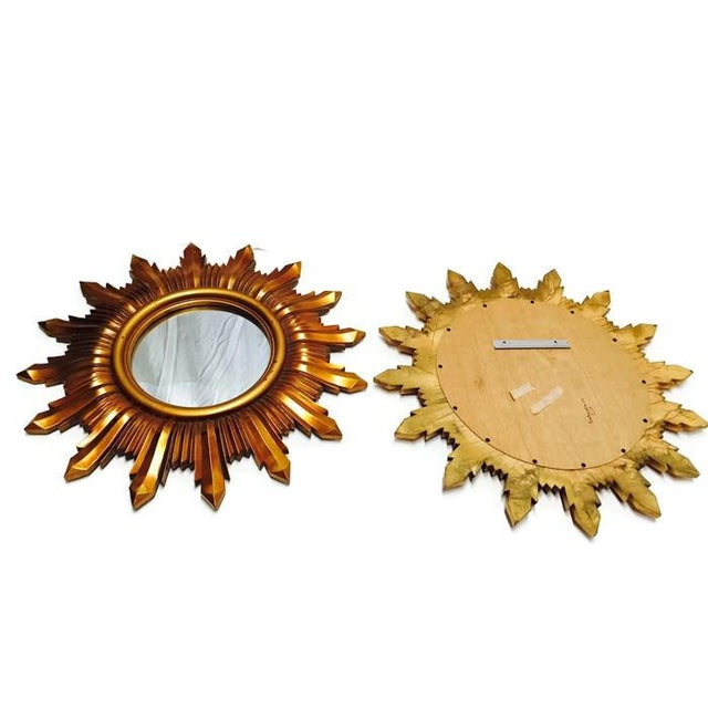 Image of Matching Glam Regency Starburst Mirrors - Pair