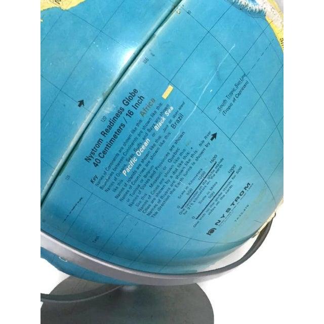 """Image of Large Vintage World Globe 20"""" Nystrom"""