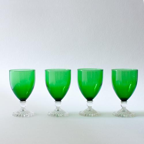 Emerald Wine Goblets - Set of 4 - Image 3 of 4