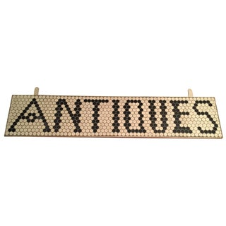 """Tile """"Antiques"""" Sign"""