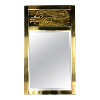Mastercraft Brass Mirror With Bernhard Rohne Acid-Etched