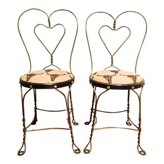 Rustic Copper Parlor Chairs - a Pair