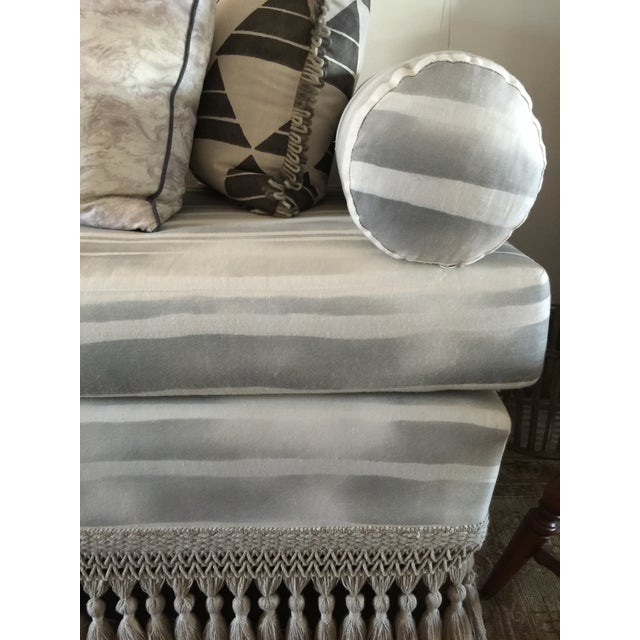 Custom Indigo & White Striped Daybed - Image 6 of 8