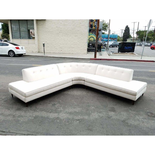 Vintage Oatmeal 3-Piece Sectional - Image 2 of 7