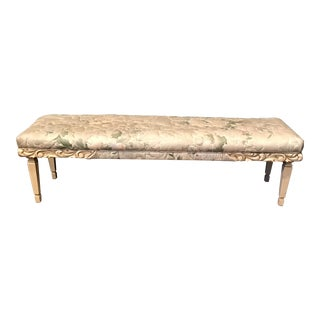 Shabby Chic Wood Floral Bench