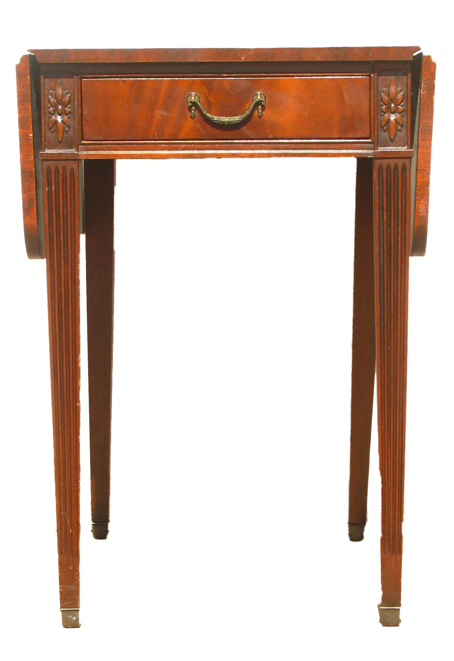 1920s Imperial Furniture Pembroke Mahogany Drop Leaf Table   Image 2 Of 9