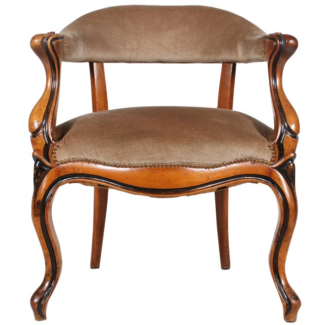 Danish Walnut Library Chair - Image 1 of 4