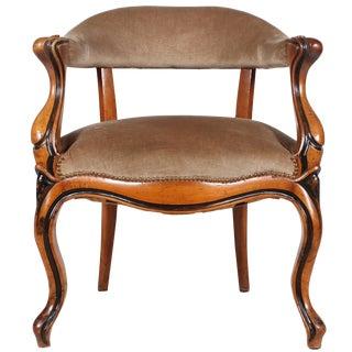 Danish Walnut Library Chair