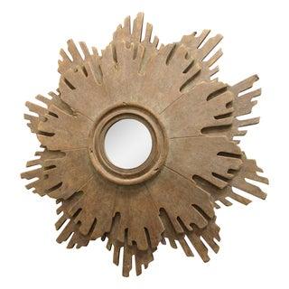 Carved Wood Sunburst Mirror
