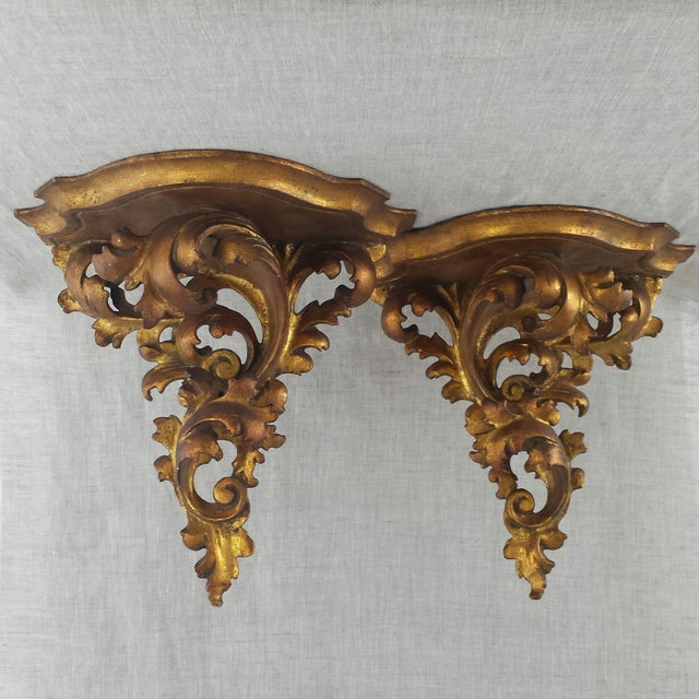 Italian Florentine Wall Sconces - A Pair - Image 7 of 9