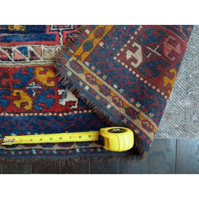 "Early 20th Century Kazak Runner Rug - 4' x 13'10"" - Image 10 of 10"