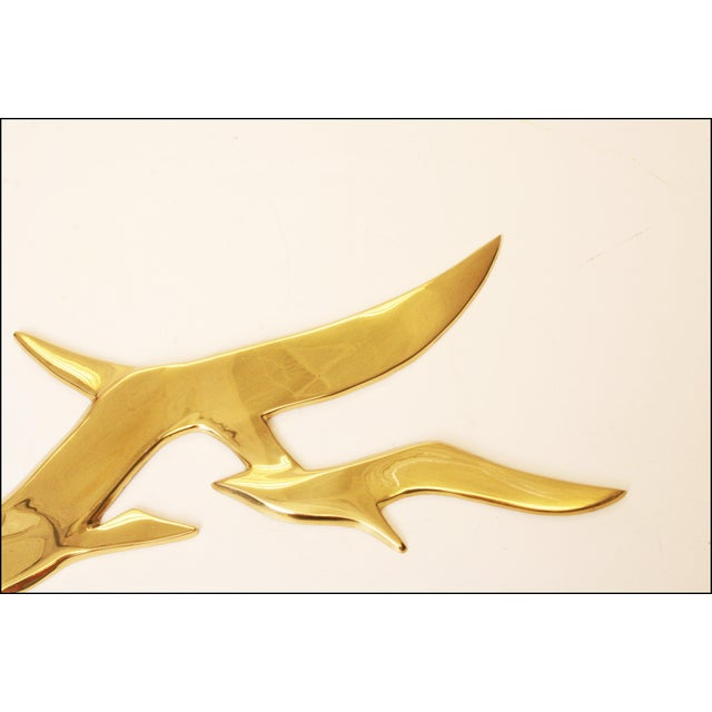 Mid-Century Modern Brass Birds Wall Art - Image 3 of 11