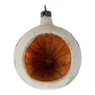 Vintage Frosted Orange Christmas Ornament