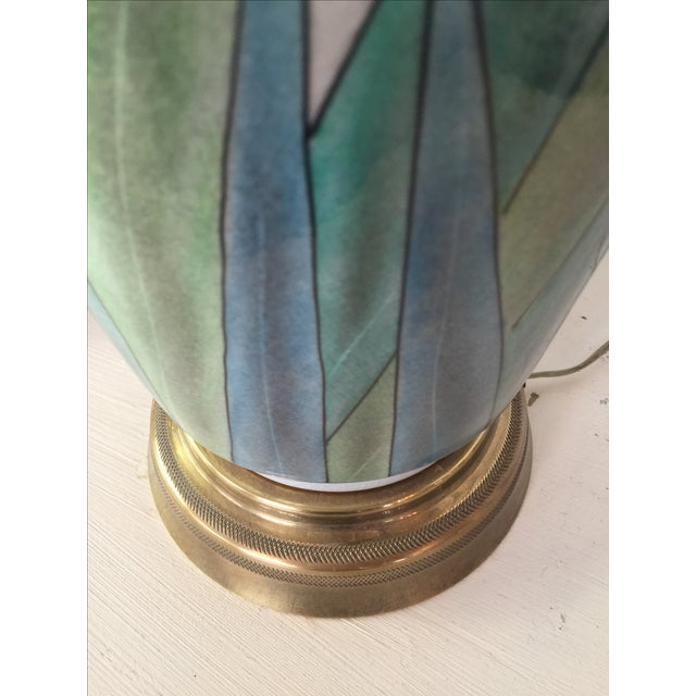 Chinoserie Hand Painted Fredrick Cooper Lamps - 2 - Image 6 of 9