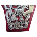 Image of Mexican Folk Art Red Wooden Hand