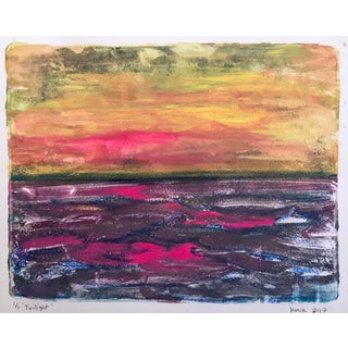 Twilight Handmade Monotype Painting