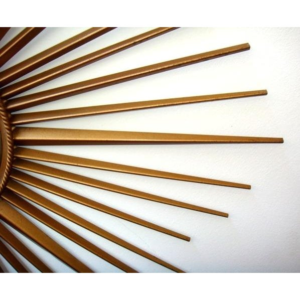 Vintage Chaty Vallauris French Sunburst Mirror - Image 3 of 6