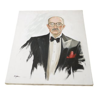 Oil Portrait on Canvas by M. Kehler