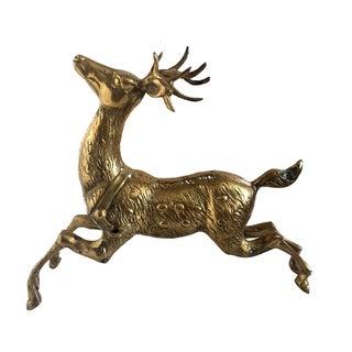 Vintage Brass Prancing Reindeer
