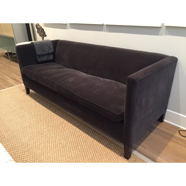 montauk gray velvet kate sofa chairish