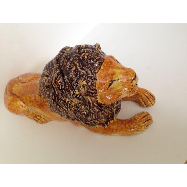 Italian Ceramic Lion - Image 4 of 7