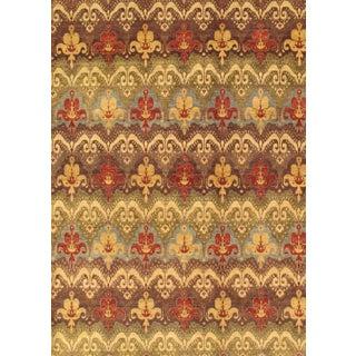 Pasargad Ikat Wool Rug - 4′ × 5′11″
