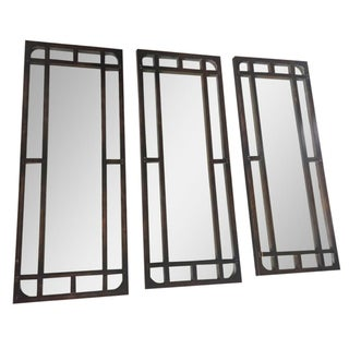 Iron Antiqued Mirrors - Set of 3