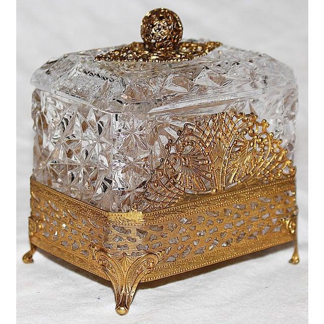 Hollywood Regency Glass Vanity Box - Image 2 of 7
