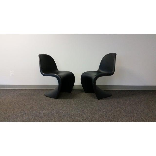 Mid-Century Black Panton Chairs - Pair - Image 2 of 5