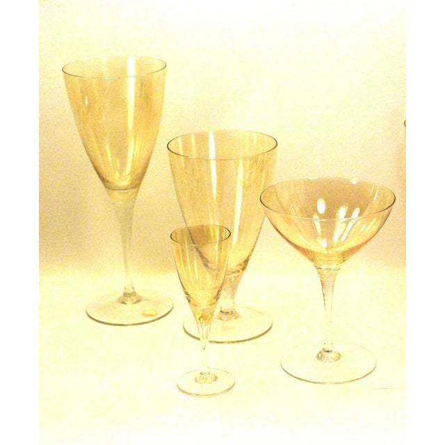 Bohemia Crystal Glassware Gold Iridescent - S/17 - Image 3 of 9
