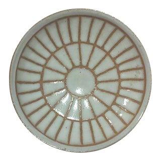 Martz Round Incised Sunburst Footed Bowl