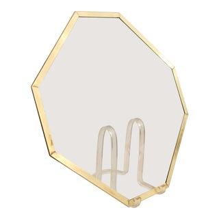 Glass & Brass Trim Octagonal Plateau